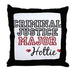 Criminal Justice Major Hottie Throw Pillow