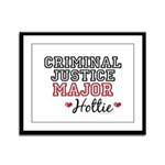 Criminal Justice Major Hottie Framed Panel Print