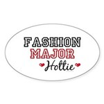 Fashion Major Hottie Oval Sticker