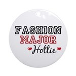 Fashion Major Hottie Ornament (Round)