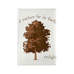 Twilight I'd Rather Be in Forks Rectangle Magnet (