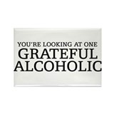 Grateful Alcoholic Rectangle Magnet