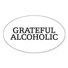 Grateful Alcoholic Oval Bumper Stickers