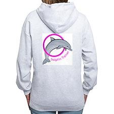 Dolphin Trainer Pink Zip Hoodie