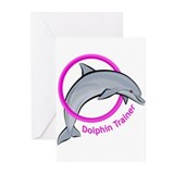 Dolphin Trainer Pink Greeting Cards (Pk of 10)