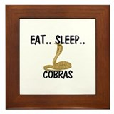 Eat ... Sleep ... COBRAS Framed Tile