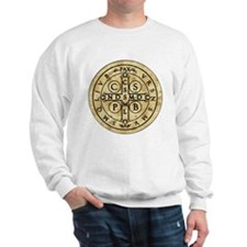 St Benedict Medal: Latin + Translation Sweatshirt