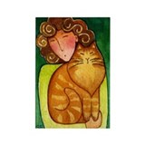 CAT LADY No. 13...Refrigerator Magnet (no text)