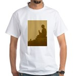 brown buddha White T-Shirt