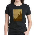 brown buddha Women's Dark T-Shirt
