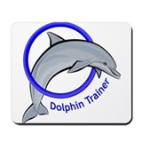 Dolphin Trainer Blue Mousepad