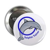 Dolphin Trainer Blue 2.25&quot; Button (10 pack)