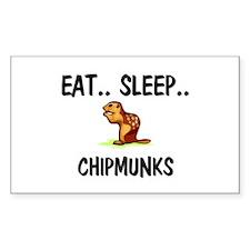 Eat ... Sleep ... CHIPMUNKS Rectangle Decal