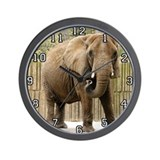 African Elephant 007 Wall Clock