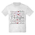 Twilight Hearts Collage Kids Light T-Shirt