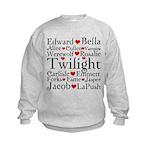 Twilight Hearts Collage Kids Sweatshirt