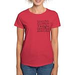 Twilight Hearts Collage Women's Dark T-Shirt