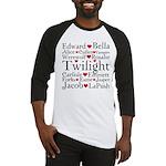 Twilight Hearts Collage Baseball Jersey