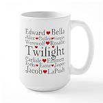 Twilight Hearts Collage Large Mug