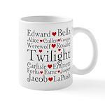 Twilight Hearts Collage Mug