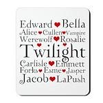 Twilight Hearts Collage Mousepad