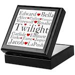 Twilight Hearts Collage Keepsake Box