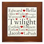 Twilight Hearts Collage Framed Tile