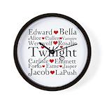 Twilight Hearts Collage Wall Clock