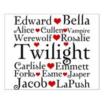 Twilight Hearts Collage Small Poster