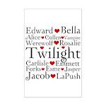 Twilight Hearts Collage Mini Poster Print