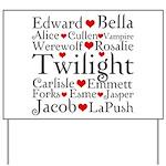 Twilight Hearts Collage Yard Sign