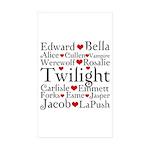 Twilight Hearts Collage Rectangle Sticker 50 pk)