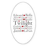 Twilight Hearts Collage Oval Sticker (50 pk)