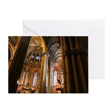 Church - Barcelona Spain Greeting Card