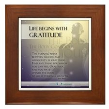 Life Begins with Gratitude Framed Tile