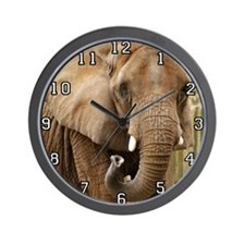 African Elephant 008 Wall Clock