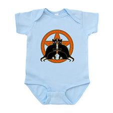 Orange Pentagram Black Cats Infant Bodysuit
