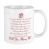 Will You Marry Me? Small Mug