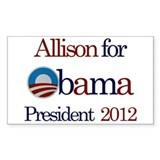 Allison for Obama 2012 Rectangle Decal