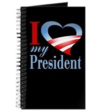 I Heart My President Journal (black)