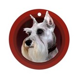 Miniature Schnauzer Red Round Ornament