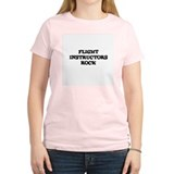 FLIGHT INSTRUCTORS  ROCK Women's Pink T-Shirt