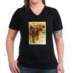 l'Escarmouche Women's V-Neck Dark T-Shirt