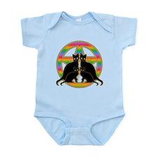 Rainbow Pentagram Cats Infant Bodysuit