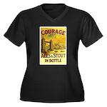 Courage Ales & Stout Women's Plus Size V-Neck Dark