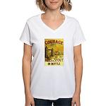 Courage Ales & Stout Women's V-Neck T-Shirt