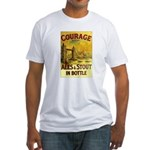 Courage Ales & Stout Fitted T-Shirt