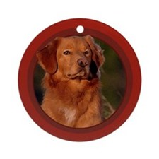 Toller Red Round Ornament