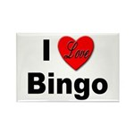 I Love Bingo Rectangle Magnet (10 pack)