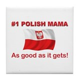 Polish Mama Tile Coaster